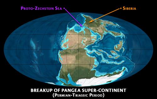 Breakup of Pangea_Proto-Zechstein Sea (Permian-Triassic Period)